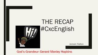 God's Grandeur- Gerard Manley Hopkins