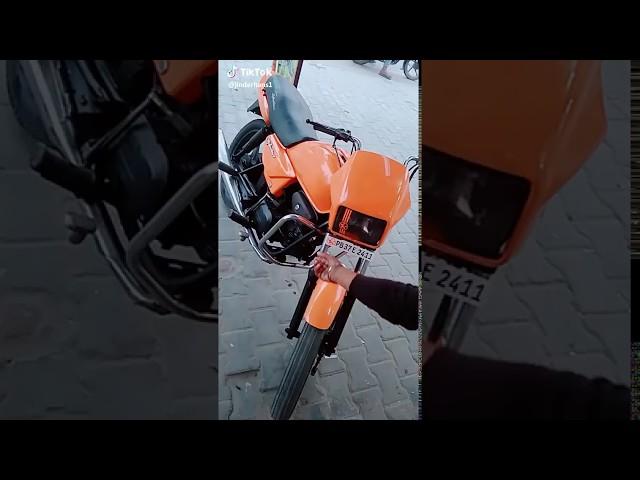 Splender modify siraa kata orange colour