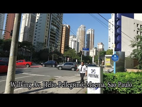 Walking Av Pelligrino, Sao Paulo Brazil - Aug 2016