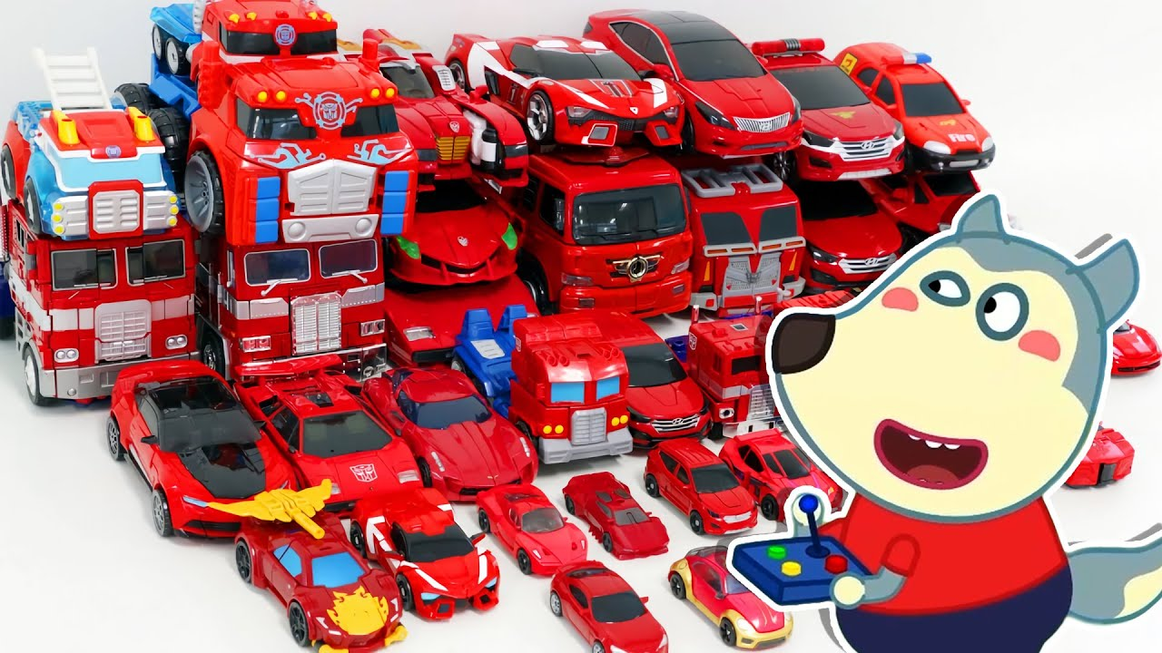 LYCAN Arabic 🌟 Lycan Plays with Toy Car Fire Truck Collection   Lycan's Funny Stories For Kids