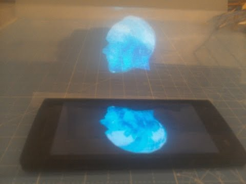 Real Phone Hollogram Illusion Demo