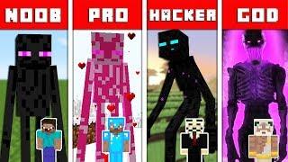 Minecraft Battle: ENDERMAN MUTANT CHALLENGE - NOOB vs PRO vs HACKER vs GOD in Minecraft Animation