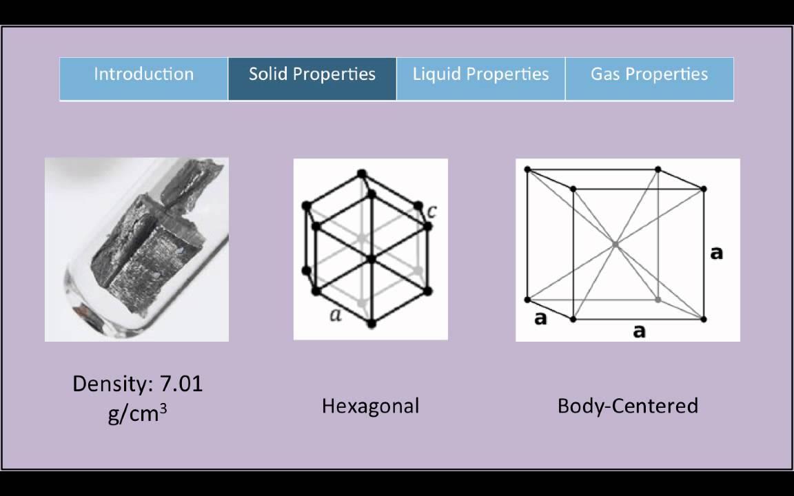 ChemWiki Elemental Minute: Neodymium (Physical Properties)