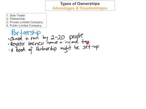 Types of Ownership - Sole Trader & Partnership - Business LC