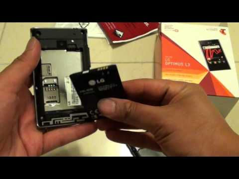 LG Optimus L3 E400: How to Insert/Remove a Battery