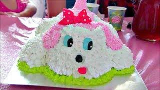 Кремовый торт СОБАЧКА / Торт в виде собачки / Украшаем торт кремом