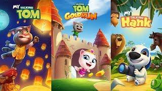 My Talking Hank vs My Talking Tom - Talking Tom Gold Run Gameplay