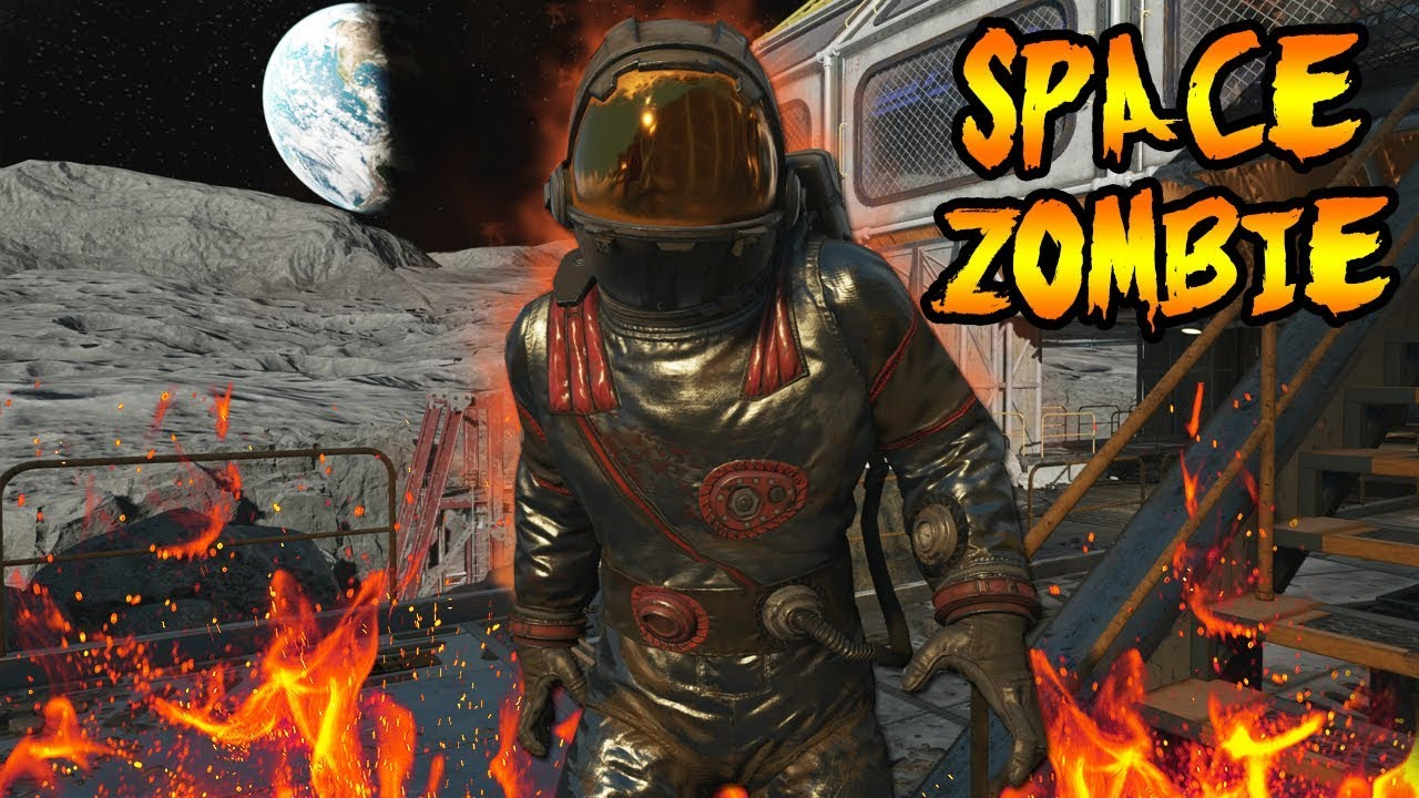 The Story of ZOMBIE ASTRONAUT SPACE MAN ON MOON STORY