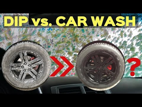 Do Plasti Dipped Rims Last in an Automatic Car Wash? -TESTING