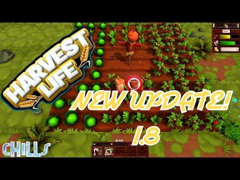 """Harvest Life NEW UPDATE 1.8 """"Leveling System and more!"""" Farming Country Life PC Gameplay"""