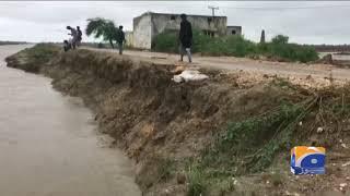 Badin Sindh Naly Kai Roads Per Darar Par Gai   25th August 2019