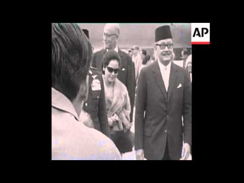 CAN 314 PRESIDENT SUKARNO OF INDONESIA ARRIVES IN VIENNA