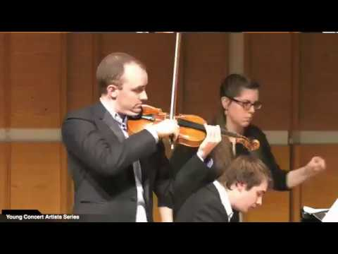 Young Concert Artists Series presents Benjamin Baker, violinist