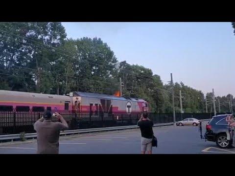 Kristin - Providence Bound MBTA Train Catches Fire