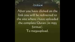 Download All of the Quran ( mp3) with a simple click