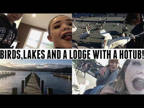 A LODGE WITH A HOT TUB AND PSYCHO SWANS?! | VLOG | MakeupJunkieG