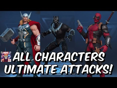 Marvel Super War All Characters Ultimate Attacks & Abilities - Free To Play Mobile MOBA Game 2019