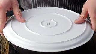 Leg den Teller auf die Pfanne. Das Ergebnis beamt dich...