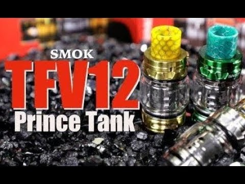How to change the coil and clean Smok TFV12 Prince Vape Tank 8ml unboxing, review, how to fill