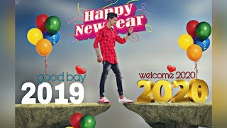 Happy new year 2020 photo editing tutorial in PicsArt step by step in hindi