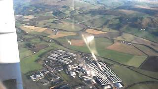 Flying over Girvan and Turnberry, west coast of Ayrshire in a cessna