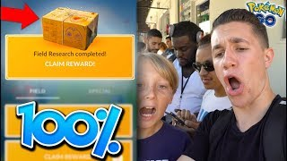 QUEST TO RESEARCH BREAKTHROUGH BOX 100% PERFECT MON + IMPORTANT ANNOUNCEMENT! (Pokémon GO)