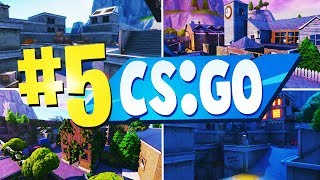 TOP 5 Best CS GO Creative Maps In Fortnite | Fortnite CSGO Map CODES