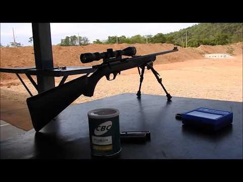 Rifle CBC 8022 CL. 22 Tiro a longa distância  long range shooting .22lr at 308 meters (336 yards)