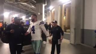 Watch Dallas Cowboys players celebrate a huge win over Atlanta Falcons
