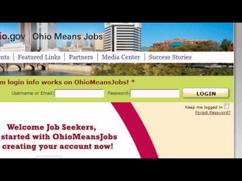 Registering With Ohiomeansjobs.com Part 1