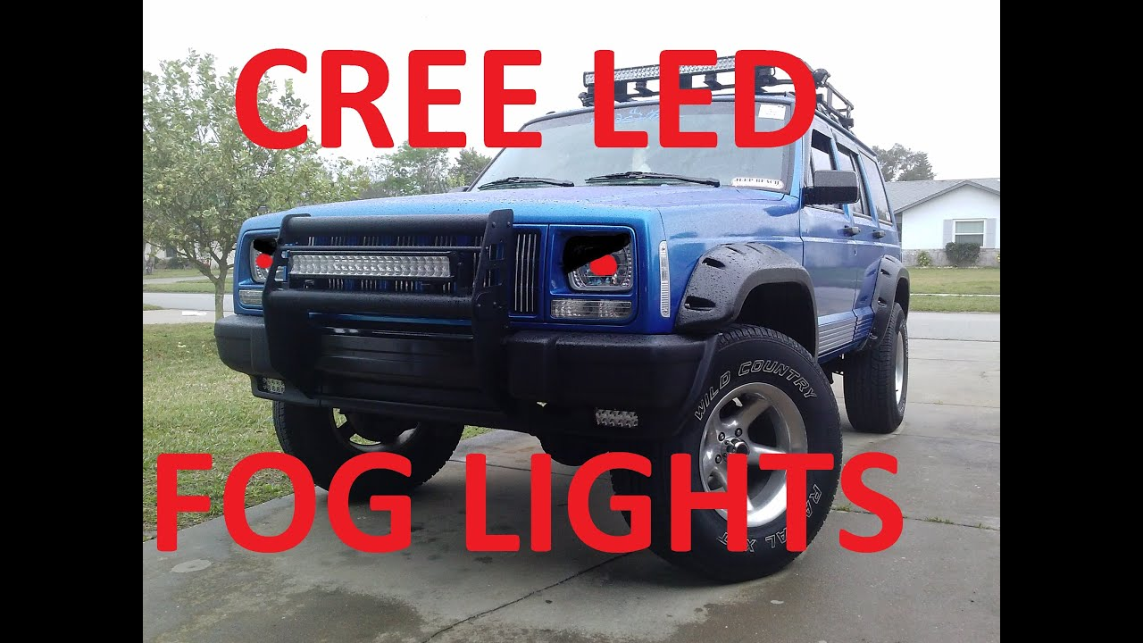 JEEP CHEROKEE XJ CREE LED FOG LIGHTS AND BUMPER PLASTICS ...