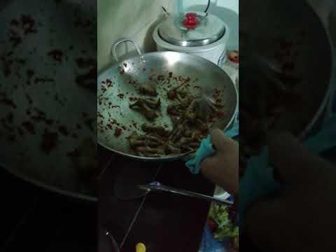 Chân gà rang muối ớt./!!siêu siêu cay… :/ của nhân đầu bự.. Siêu ngon.!! :))