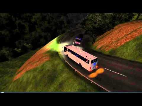 Bus ANL SR1 Malam Cepat di jalanan Extreme Pagar Alam - Lahat II Mod Map I.Z.I Sumatra ( ETS2)