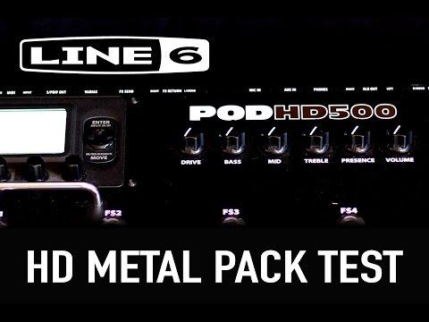 Line 6 POD HD500 HD Metal Pack test