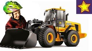 Про Трактор с ковшом, фронтальный погрузчик. Строительная техника для детей(, 2016-07-29T06:00:01.000Z)