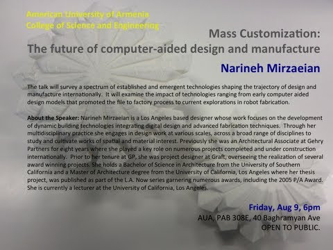 Mass Customization: the future of computer-aided design and manufacture