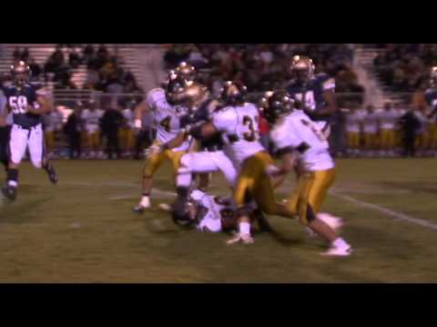 Big Football Hits! Running Back delivers Blow. Addie Brown Mullen High School