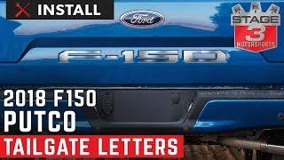 Putco 55556FD F-150 Billet Tailgate Letters Fits 18 F-150