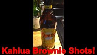 Kahlua Brownie Shots Recipe Below!