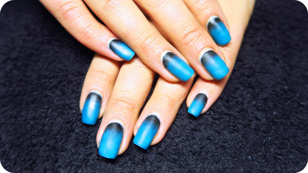 matte ombre nails with gel polish