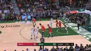 Giannis Antetokounmpo Destroys The Bulls and Shocks Crowd With 3 Pointer!