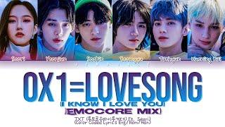 TXT 0X1=LOVESONG (I Know I Love You) (Feat. Seori) (Emocore Mix) (Color Coded Lyrics)