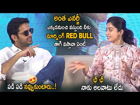 Nithin Hilarious Fun With Rashmika Mandanna || Bheeshma Team Funny Interview || Life Andhra Tv