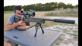 The Quietest Sniper Rifle! - Suppressed Subsonic .308