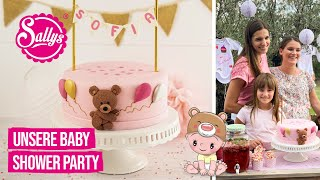 Baby Shower Party / Organisation und Motivtorte / Sallys Welt