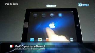 Real iPad 3D (V2), Glasses-Free 3D Display Technology by 3DIS(Real iPad 3D [Demo version 2] Glasses-Free 3D Display Technology by 3DIS The Glasses-Free 3D Display Technology was applied to the