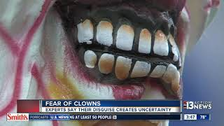 Fear of clowns is quite common
