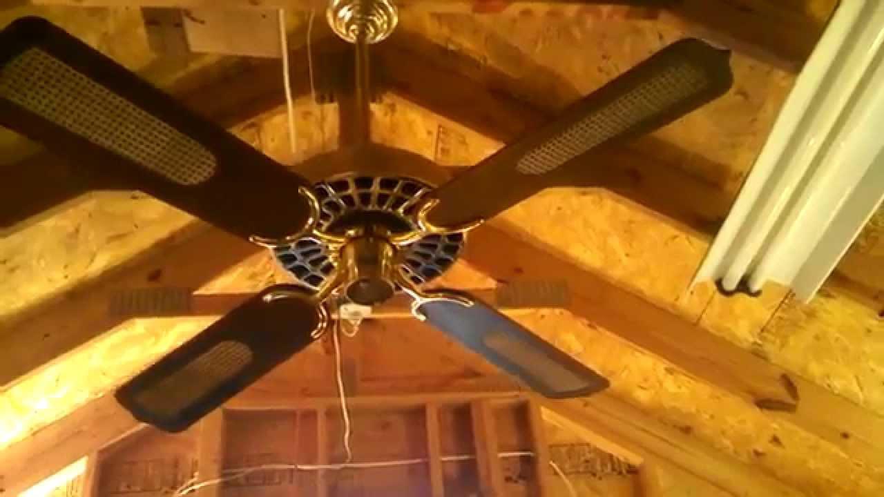 Island Fan Company Plantation Electric Fans Ceiling In Polished Brass You