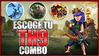 APRENDE Y DOMINA ESTOS COMBOS   QW LALOON TH9   Clash of Clans  