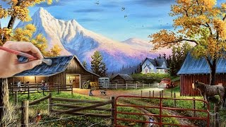Acrylic Landscape Painting Time-lapse | Ranch Life